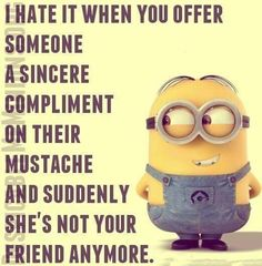 Minions one of the cutesiest things ever they are funny . Some of the minions funny quotes are below . Don't forget to share with friends. Funny Minion Memes, Minions Quotes, Funny Jokes, Hilarious, Minion Humor, Minion Sayings, Fuuny Memes, Fun Funny, Minions Love