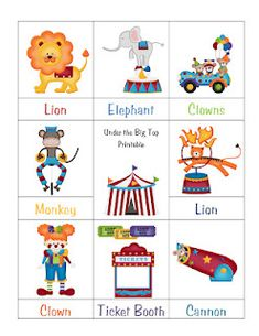 Printables for preschool learning, very cute!