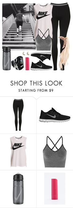 """""""Working out with Ashton. -----> *Cynthia."""" by imaginegirlsdsos ❤ liked on Polyvore featuring Topshop, NIKE, Ivy Park and Eos"""