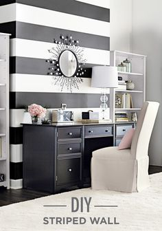 Best The Black And White Striped Wall Decorating I Love 400 x 300