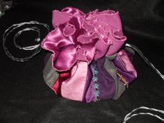 Hermiones Beaded Bagwith Purple  Lining by mibolsa on Etsy, $60.00