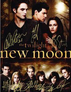 Cast Twilight, New Moon, Breaking Dawn Kristen Stewart, Taylor Lautner, and Robert Pattinson Signed Autographed 8.5 x 11 P...