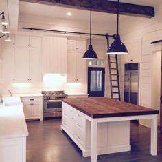 Milk and Honey Home Farmhouse Kitchen, 20 Farmhouse Kitchens via A Blissful Nest