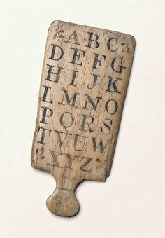 Hornbook, 1785-1815. V&A MISC.239-1978