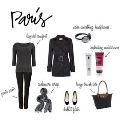 A fashion look from March 2013 featuring gray shirt, ponte pants and black shoes. Browse and shop related looks. Travel Chic, Travel Tote, French Girl Style, My Style, Paris Outfits, Ponte Pants, Minimal Chic, Paris Travel, Grey Shirt