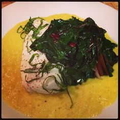 Coconut Milk Poached Haddock with Sauteed Greens and Sweet Ginger Corn ...