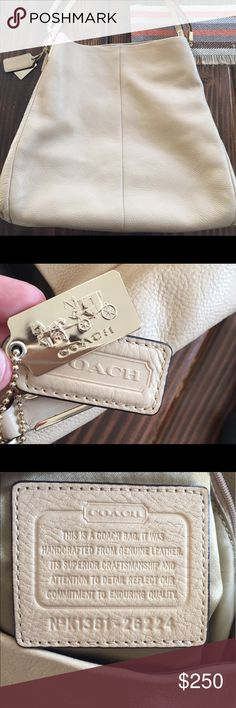 Nude coach handbag! Excellent condition! I got this as a gift and rarely carried it! In perfect condition! Coach Bags Shoulder Bags