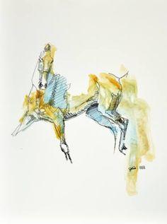 """Saatchi Art Artist Benedicte Gele; Painting, """"Equine Nude 143"""" #art"""