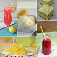 Lemon Recipes 3 Collage