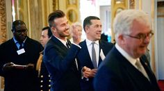 Good sport: Beckham's interview will be aired on Sunday as part of the Our Queen at Ninety documentary on ITV