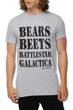 Bears Beets Battlestar Galactice tshirt $20.50 Size: XL