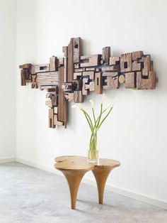 Phillips Collection - every piece of conversation Cool Woodworking Projects, Diy Wood Projects, Wood Crafts, Woodworking Plans, Woodworking Apron, Popular Woodworking, Scrap Wood Art, Wooden Wall Art, Wood Wall