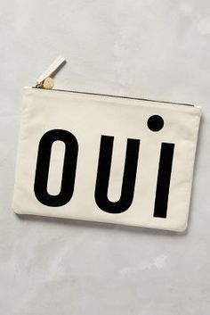 Clare V Oui Pouch Cream One Size Clutches #anthrofave