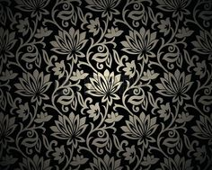 black floral background s Vintage Floral Backgrounds, Backgrounds Free, Flower Backgrounds, Abstract Backgrounds, Gold Background, Background Patterns, Art Nouveau, Big Flowers, Black Wallpaper