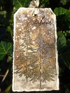 Country View Crafts' Projects: Sparkling Woodlands Tag - by Alison