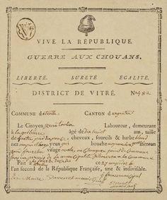 Guerre des Chouans région de Vitré 1793-94