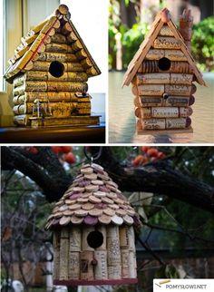Budki dla ptaków z korków - zrób to sam - Pomyslowi.net