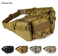 New Outdoor Molle Military Men Tactical Waist Pack Bags Waterproof Waist Bag Climbing Bum bag Military Equipment