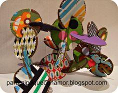 Para mi peque con amor: Escultura de cartón y tela