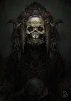 aztec theme demon speedpaint by kostya p ngwin chernianu Exotique: The World's Most Beautiful CG Characters