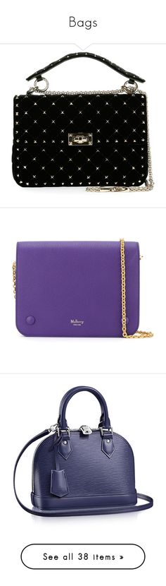 """""""Bags"""" by rosky ❤ liked on Polyvore featuring bags, handbags, shoulder bags, black, valentino purses, chain shoulder bag, velvet handbags, kiss-lock handbags, chain strap purse and clutches"""