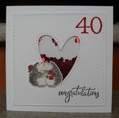 my crafting journey of discovery. Penny Black Cards, Penny Black Stamps, Shaker Cards, Anniversary Cards, Card Making, Valentines, Day, How To Make, Crafts