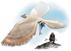 Los Rocs o Rukh son aves de rapiña gigantescas, a menudo blancas, pertenecientes a la Mitología persa, capaces de levantar a un elefante con sus garras