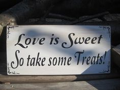 Rustic Wedding Love is Sweet Candy Bar Buffet, dyi for cheaper