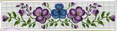 Artes da Nique: Gráficos de ponto cruz - barrado flores