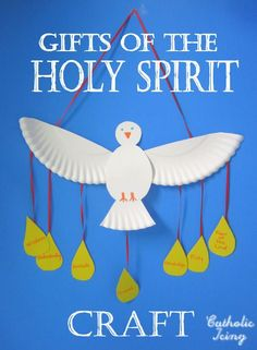 Pentecost: Make a paper plate dove as a Holy Spirit craft. Easy and cheap! For Pentecost, Baptism, Confirmation, or anytime!