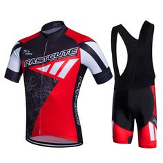 2016 Brand Fastcute Cycling Sets Breathable Cycling Jerseys Quick-Dry Cycling Clothing Bib Shorts GEL Pad #16198216