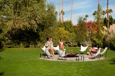It's sunny over 350 days a year in Palm Springs, so hanging out in the sun with friends is always an option.