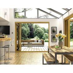 Albery Oak 7ft External Folding Set - Solid Oak Folding Patio Doors - Exterior Folding & Sliding Patio Doors -Doors & Windows - Wickes