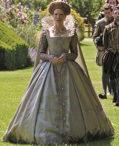 Elizabeth's silver gown -ELIZABETH THE GOLDEN AGE.