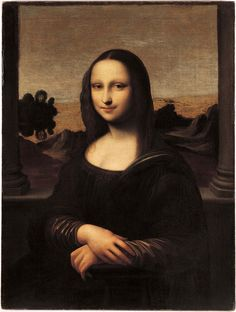 Did Leonardo painted a younger version of Mona Lisa? The Swiss Foundation (Monalisa.org) believes so. It's not new for Leonardo to create two versions of paintings like in the case of Virgin of the Rocks and Madonna of the Yarnwinder. This painting adds some additional elements in the background. Sans enigmatic smile.