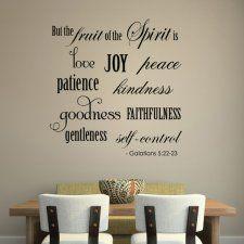 Wall Art Decal FRUITS of the SPIRIT Galatians Scripture  Verse