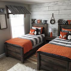 Love the accent wall and window covering! Zipper bedding by - cool Cutest boys bedroom. Love the accent wall and window covering! Zipper bedding by… by www. Shared Boys Rooms, Cool Bedrooms For Boys, Boys Bedroom Decor, Little Boys Rooms, Bedroom Themes, Teenage Boy Bedrooms, Big Boy Rooms, Little Boy Beds, Preteen Boys Room