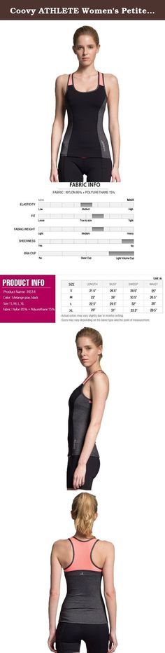Coovy ATHLETE Women's Petite Compression Tank with shelf bra. Get moving with fashion forward ATHLETE Beyond fitness workout compression tank! This tank top has shelf bra for extra support. Limited premium collection. Clever 4-way flex allows you to move comfortably while moisture-wicking fabric keeps you cool and dry! fabric + features 85% Nylon + 15% Spandex for optimum compression. 360-degree full stretch construction to help enhance muscle mobility fit + function Smooth and sleek...