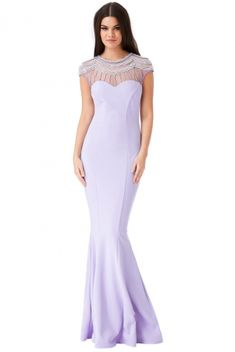 Get your Embellished Fishtail Maxi Dress here. Buy your Embellished Fishtail Maxi Dress online now. Fishtail Maxi Dress, Chiffon Maxi Dress, Prom Dresses 2018, Formal Dresses, Occasion Dresses, Celebrity Style, Party Dress, Clothes For Women, Lavender