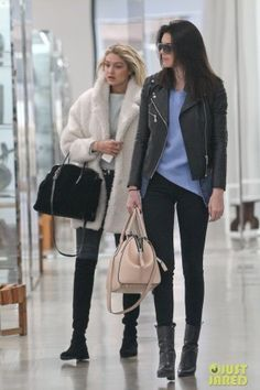 Kendall Jenner Shopping in Soho with Gigi Hadid December 14, 2014