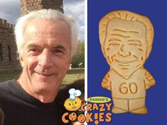 Make your husband's 60th birthday unforgettable with cookie twins from Parker's Crazy Cookies...the best party favors ever!