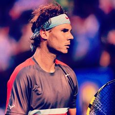 RAFA v Federer in SFs ---- Rafa's quest to win every MAJOR Title twice will have to wait at least one more year. --- pic Via australianopen 1/24/2014 The steely gaze of @rafael_nadal_ Credit: @Breezy.. #ausopen