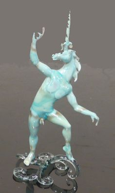 """Lucio Bubacco """"lume"""" technique, inspired by Greek, Roman and Byzantine classic art, by medieval and renaissance theater and by """"La Commedia dell'Arte. His masterpieces are crafted in Murano glass."""