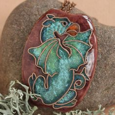 Dragon medieval by Tsikorskaya Dragon Necklace, Dragon Jewelry, Gothic Jewelry, Unique Jewelry, Medieval Dragon, Talisman, Enamel Jewelry, Jewellery, Dragon Pendant