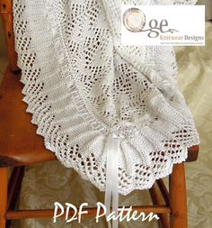Baby blanket sure to become an heirloom P010 by OgeDesigns on Etsy
