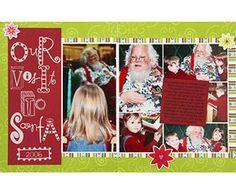 Santa Visit Scrapbook Layout  Design by Melissa Inman