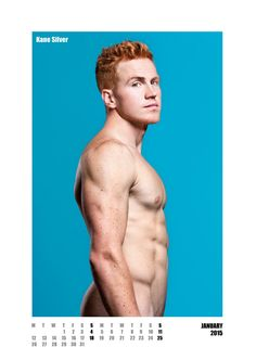 #redhot #redheads Mr January - Capture the spirit of the RED HOT exhibitions and tour in a calendar for anyone who appreciates hot men with red hair. £20