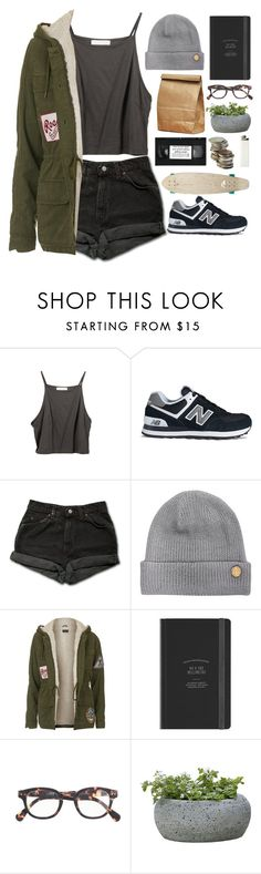 """""""my mind is so confined"""" by bambikisses ❤ liked on Polyvore featuring New Balance, Levi's, Vince Camuto, Topshop, J.Crew, Campania International and Quiksilver"""