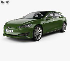 model of Tesla Model S Remetz Car Shooting Brake 2018 Car 3d Model, Stl File Format, Vw Sharan, Shooting Brake, Car Engine, Volkswagen, Models, Parts Of The Mass, Dios