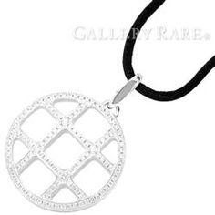 カルティエ ネックレス グリッドチャーム ダイヤモンド K18WGホワイトゴールド Cartier ジュエリー ペンダント ダイアモンド チョーカー